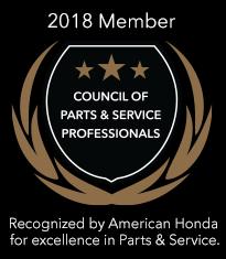 2018 Council of Parts & Service Professionals Award