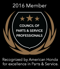 2016 Council of Parts & Service Professionals Award