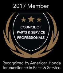 2017 Council of Parts & Service Professionals Award
