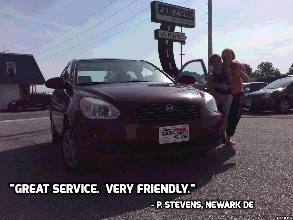Car Zone Dover De >> Car Zone Customer Testimonials | Used Car Dealership & Bad Credit Auto Financing Dover, DE