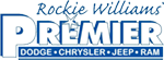 Rockie Williams Premier Chrysler Dodge Jeep Ram Logo