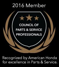 2016 Parts Award -