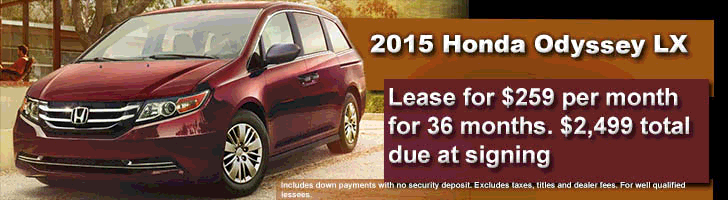 2015 Honda Odessy LX Lease Offer