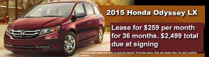 2015 Honda Odessy LX Lease Offer