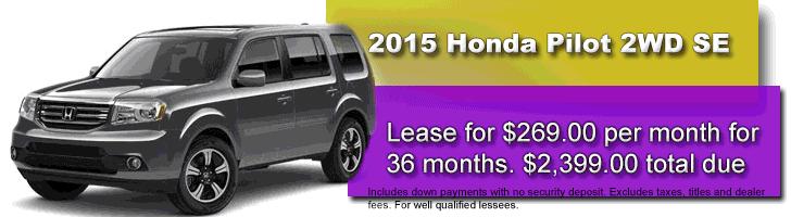 2015 Honda Pilot SE Lease Offer