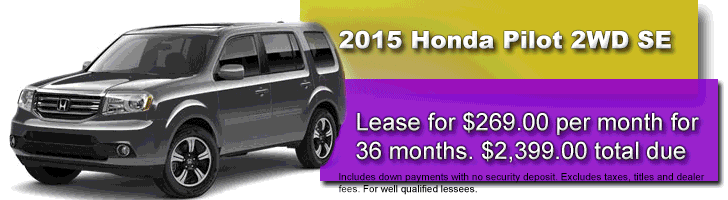 2015 Honda Pilot SE Lease Offer