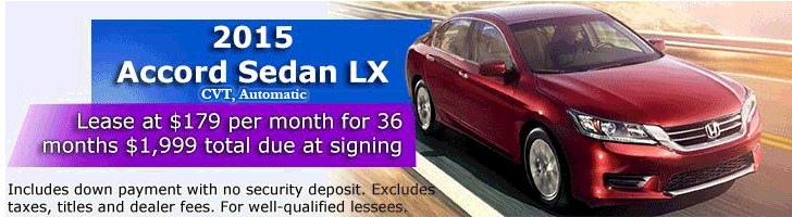 2015 Honda Accord LX Lease offer