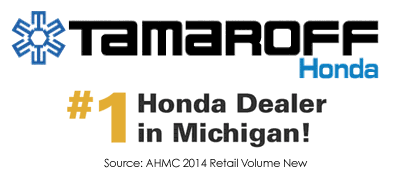 #1 Retail Volume New Cars Sales and Certified Used for 2013 per AHM - Tamaroff Honda in Southfield, MI