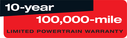 10,000-Year 100,000 Mile Limited Powertrain Warranty