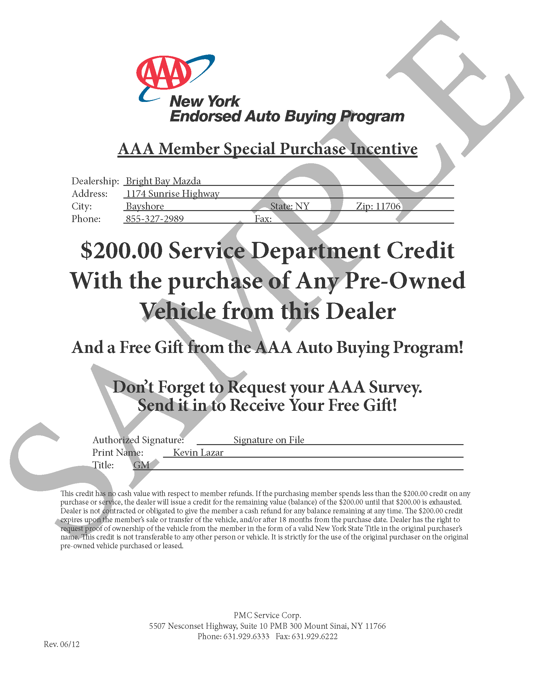AAA Specials Savings on Service with a Used Car Purchase