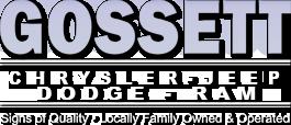 Gossett Chrysler Dodge Jeep Ram Logo