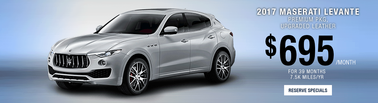 Lease or Purchase a Levante at Maserati of Palm beach