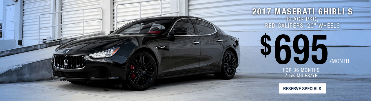 Lease or Purchase a Ghibli Black Edition at Maserati of Palm beach