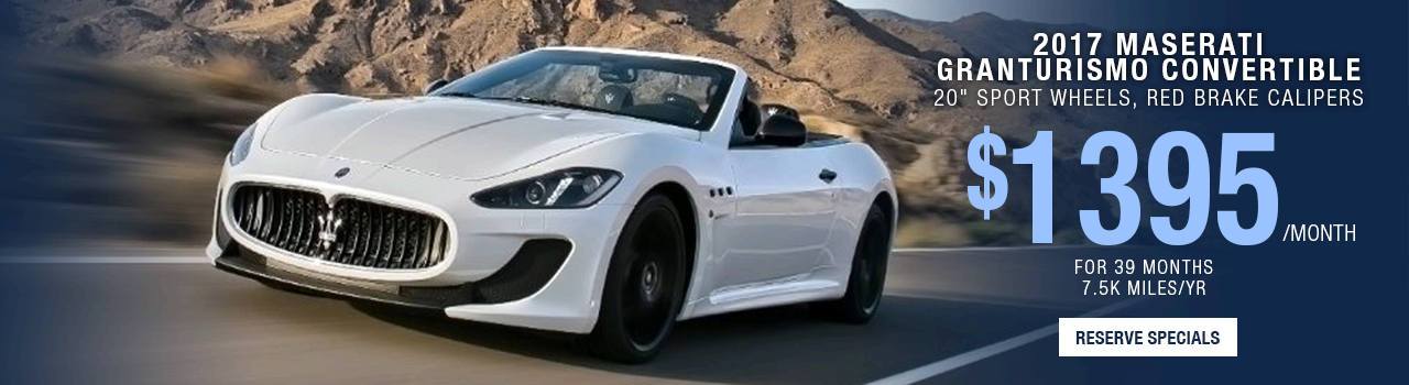 2017 Maserati Granturismo Convertible Lease Offer