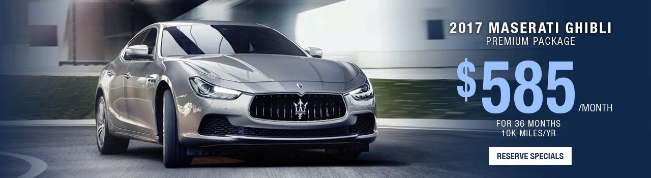 Maserati Ghibli Lease Offer