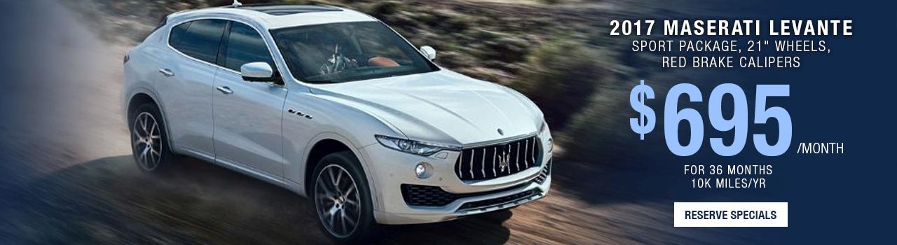 2017 Maserati Levante Lease Offer