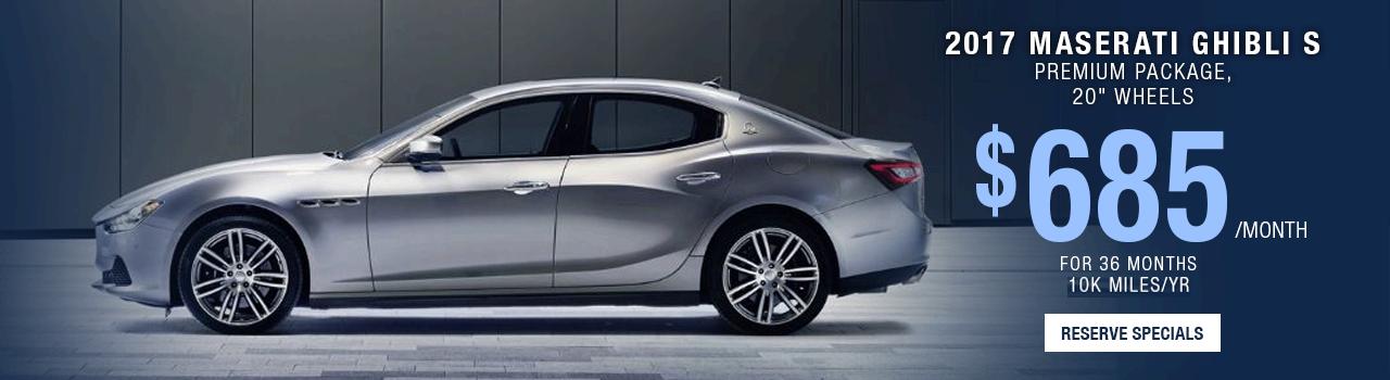 Maserati Ghibli S Lease Offer