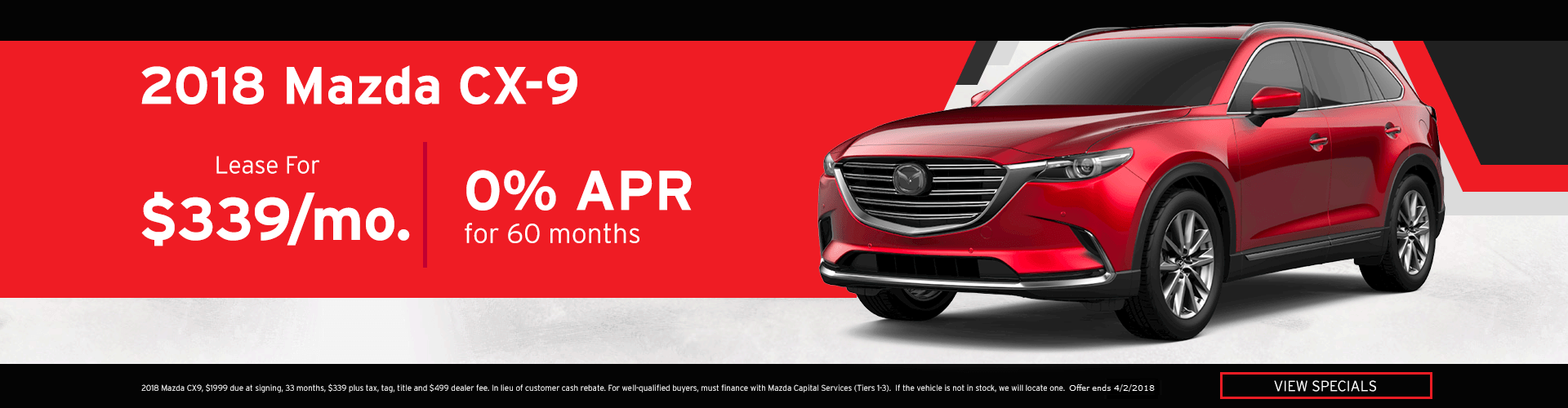 March Mazda CX-9 Special Offer
