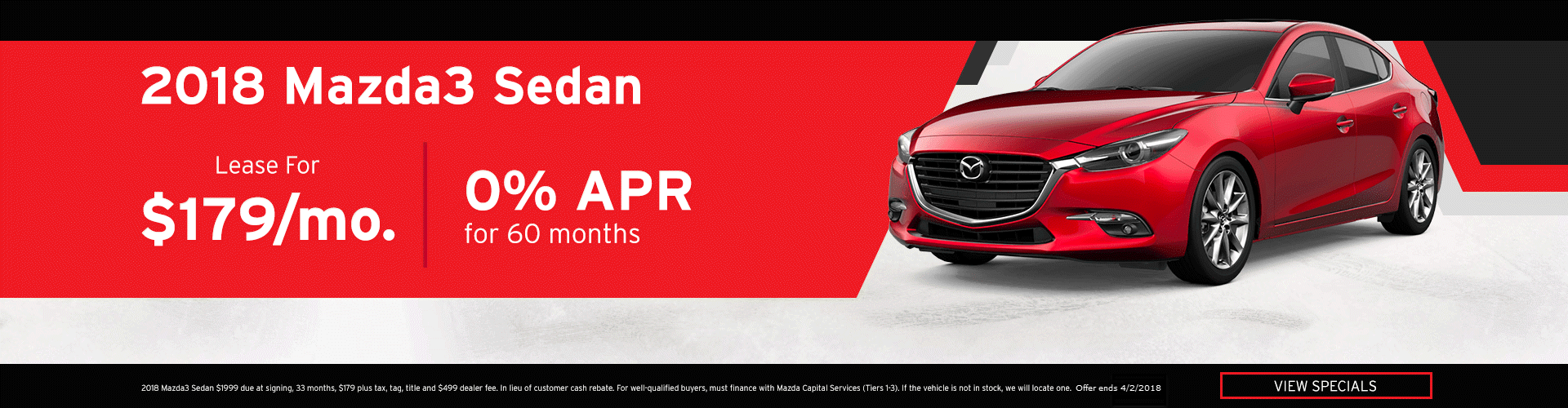 March Mazda3 Special Offer