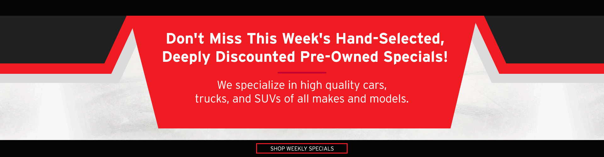 Weekly Pre-Owned Specials