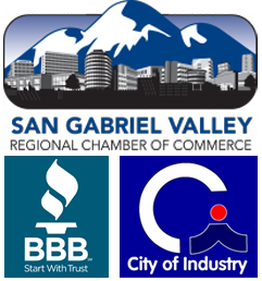 Professional Memberships with Chamber of Commerce, BBB, and City of Industry