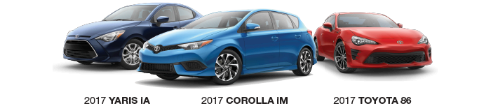 2017 Scion model lineup